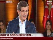 Başbakan Davutoğlu Habertürk TV'de - 1.Kısım