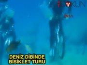Fethiye'de deniz altında bisiklet turu