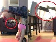 Kedilere üç buçuk attıran kız
