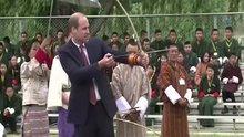 Prens William ve Prenses Kate'den atıcılık şovu
