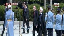 Cumhurbaşkanı Erdoğan Ruhani'yi resmi törenle karşıladı