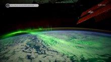 Kutup ışıklarının uzaydan görünümü nefes kesti