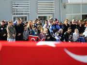 Van'da şehit polis için tören düzenlendi