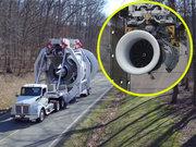 Dünyanın en büyük Jet motoru böyle test edildi