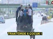 Traktörde 7 kişi!