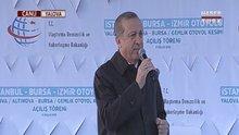 Cumhurbaşkanı Erdoğan Körfez Köprüsü töreninde konuştu