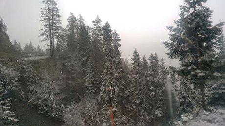 Meteoroloji uyardı, Ilgaz'a kar yağdı