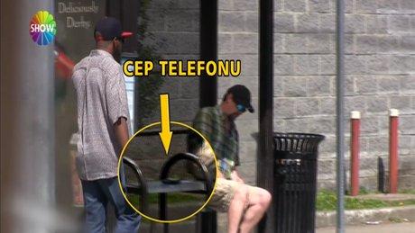 """Telefon hırsızları """"şok"""" oldu!"""