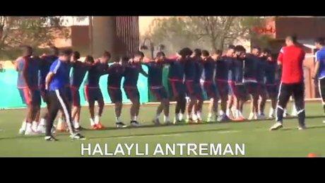Kayseri'de neşeli antrenman