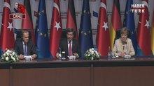 Davutoğlu ve Merkel'den ortak açıklama - 1.Kısım