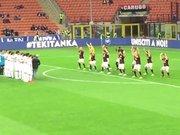 Milanlı futbolculardan haka dansı