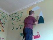 Ressam baba odayı baştan yarattı