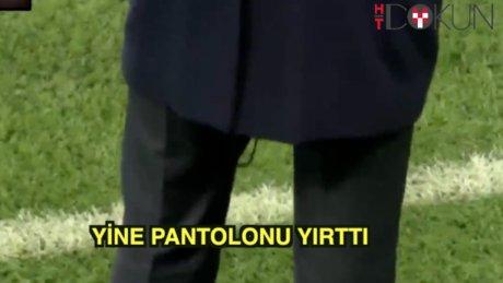 Zidane yine pantolonu yırttı