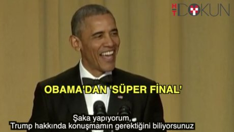 Obama'dan esprili final