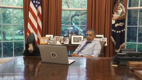 Beyaz Saray'dan 'esprili' Obama klibi