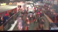 Motosikletli kurye bisiklet yarışını böyle katletti!