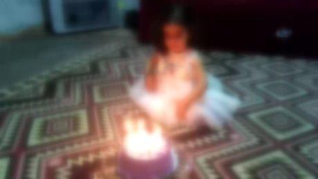 Minik kızın doğum günü kutlaması faciayla bitiyordu