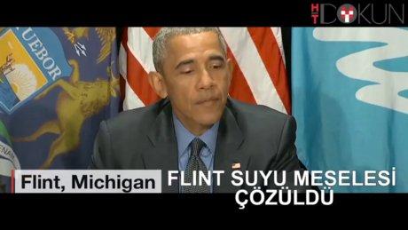 Obama 'kurşunlu su' içti