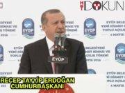 Cumhurbaşkanı Erdoğan Eyüp'te konuştu
