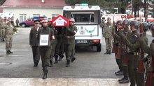 Giresun'daki saldırıda şehit olan Karakol Komutanı için tören düzenlendi