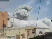 Suriye'de caminin vurulma anı kamerada!