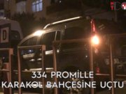 Ayvalık'ta alkollü sürücü polis aracına çarptı