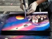 Spreyle yapılan muhteşem tablo