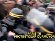 Paris'te protestolar durmuyor