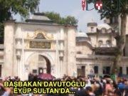 Davutoğlu megafondan helallik istedi