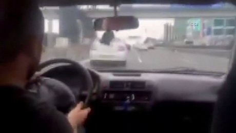 Trafik canavarı kamerada