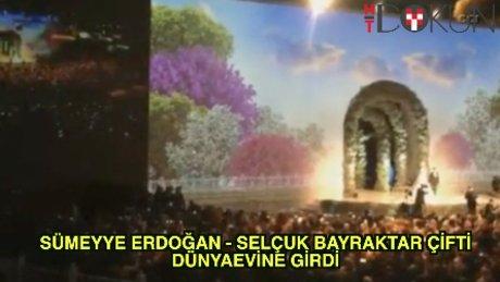 Sümeyye Erdoğan ve Selçuk Bayraktar dünyaevine girdi