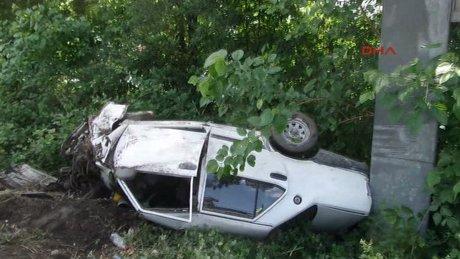Sapanca'da düğün dönüşü kaza: 4'ü çocuk 7 yaralı