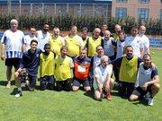 Başakşehirli futbolcular, Parkinson hastalarıyla gösteri maçı yaptı