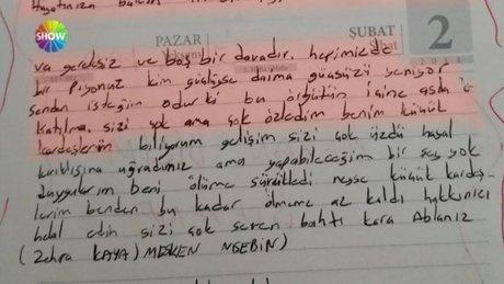 Kadın teröristten ailesine pişmalık mektubu!