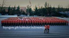 """ASKERİ LİSE ÖĞRENCİLERİNİN """"BAYRAK"""" KLİBİ DUYGULANDIRDI"""