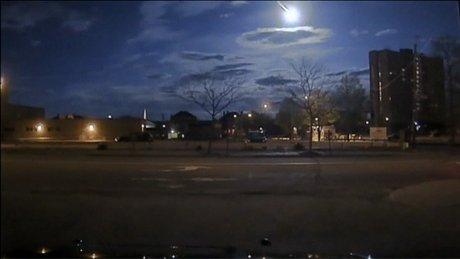 Meteorun düşme anı polis kamerasında