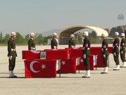Şemdinli'de şehit olan 4 asker için tören