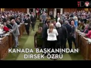 Trudeau'ya özür dileten dirsek darbesi
