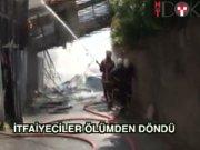 Balat'ta yangın paniği: İtfaiyeciler ölümden döndü