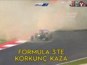 Formula 3 yarışında korkunç kaza