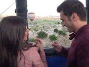 Bin 500 metre yükseklikte evlilik teklifi