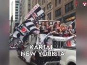 Beşiktaşlı taraftarların New York Yürüyüşü