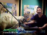 Cem Yılmaz, koyunla ses stüdyosunda