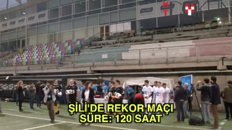 Şili'de rekor: 120 saatlik maç
