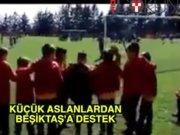 Küçük aslanlardan Beşiktaş'a destek