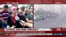 Bahçelievler'de çöken bina mahdurları Habertürk TV'de