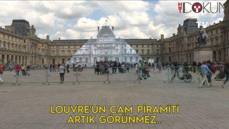 Louvre'un piramiti görünmez oldu