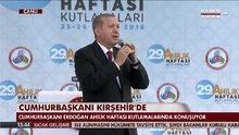 Cumhurbaşkanı Erdoğan Kırşehir'de