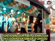 Taksim'de okçular yürüdü