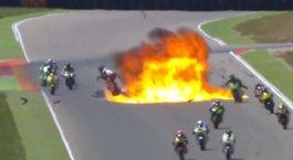 Moto2'de korkunç kaza!
